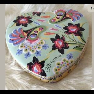 Brighton Colourful Tin Heart-shaped Jewelry Box